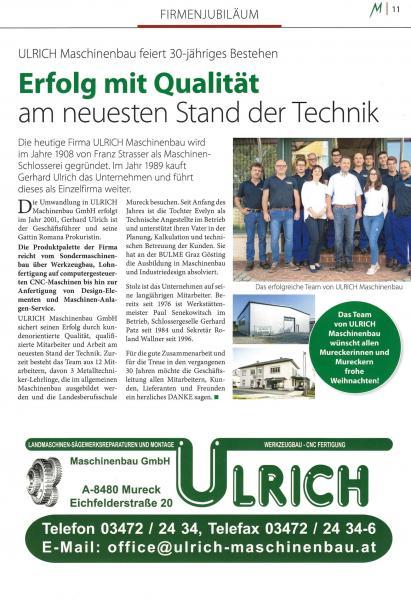 30 Jahre Ulrich Maschinenbau GmbH