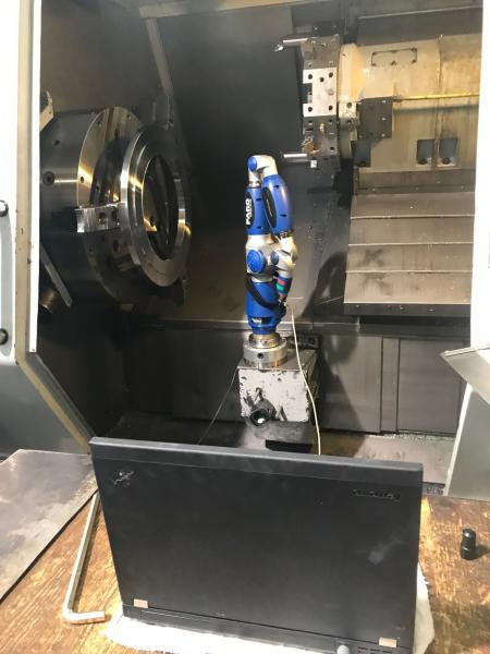 Faro Gage Arm im Einsatz an der Maschine